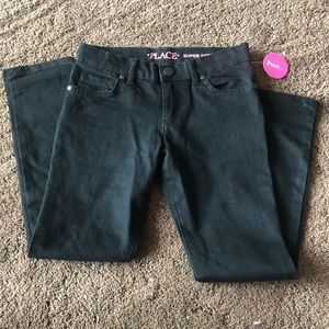 NWT black children's place skinny jeans